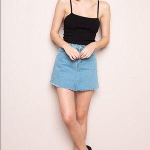 Brandy Melville Denim A-line Skirt